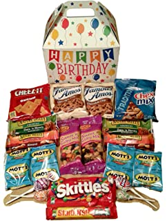 Happy Birthday Care Package Features Fun Themed Gift Box Stuffed With Savory Snacks And Sweet