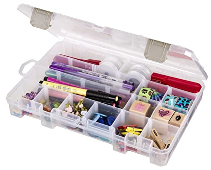 Amazoncom ArtBin Solutions Medium Box 4 Compartment Translucent