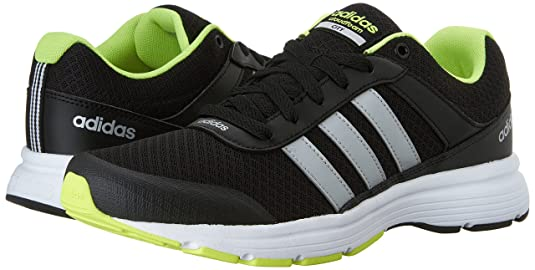 buy online eaafb 47cf9 adidas Neo Cloudfoam Vs City Shoes, Black Metallic Silver Yellow, 12 M Us   Amazon.co.uk  Shoes   Bags