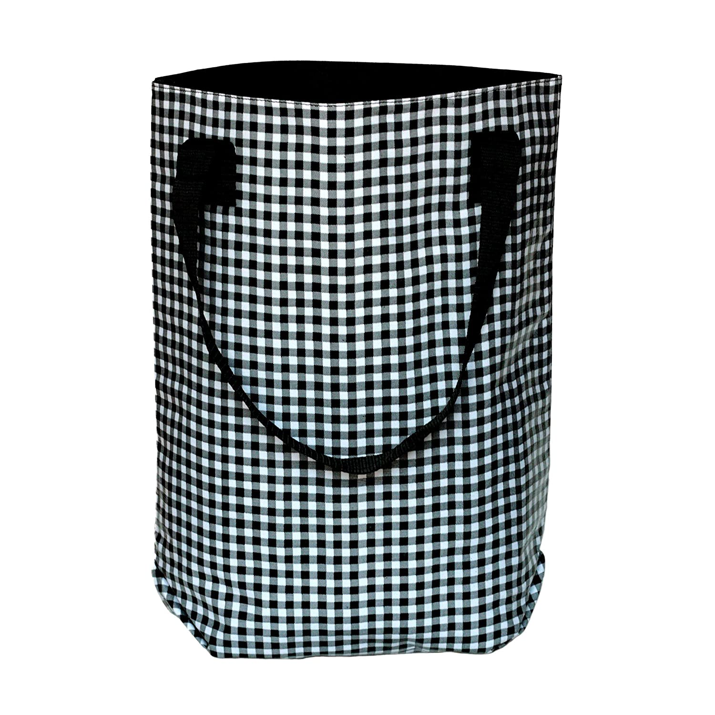Ikuri - Bolso bandolera, bolso shopper mujer multicolor estampado, resistente al agua, impermeable, de hule, artesanal, modelo Vichy