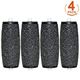 [4 Pack] Canwn Extra Coarse Replacement Rollers Compatible with Scholl Velvet Smooth Diamond Pedi Hard Skin Remover Refills
