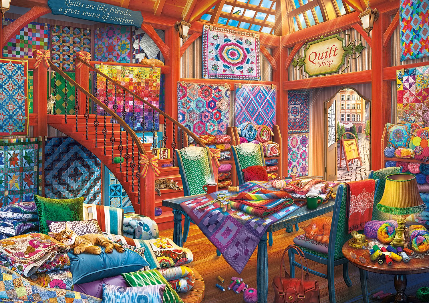 Buffalo Games Days to Remember - Quilt Shop - 500 Piece Jigsaw Puzzle
