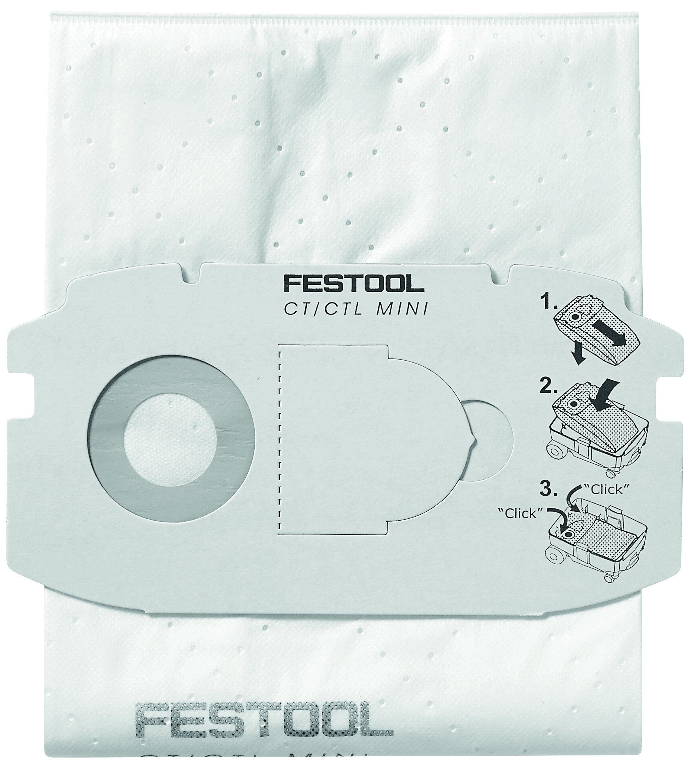 Festool 498411 Self Clean Filter Bag for CT MIDI