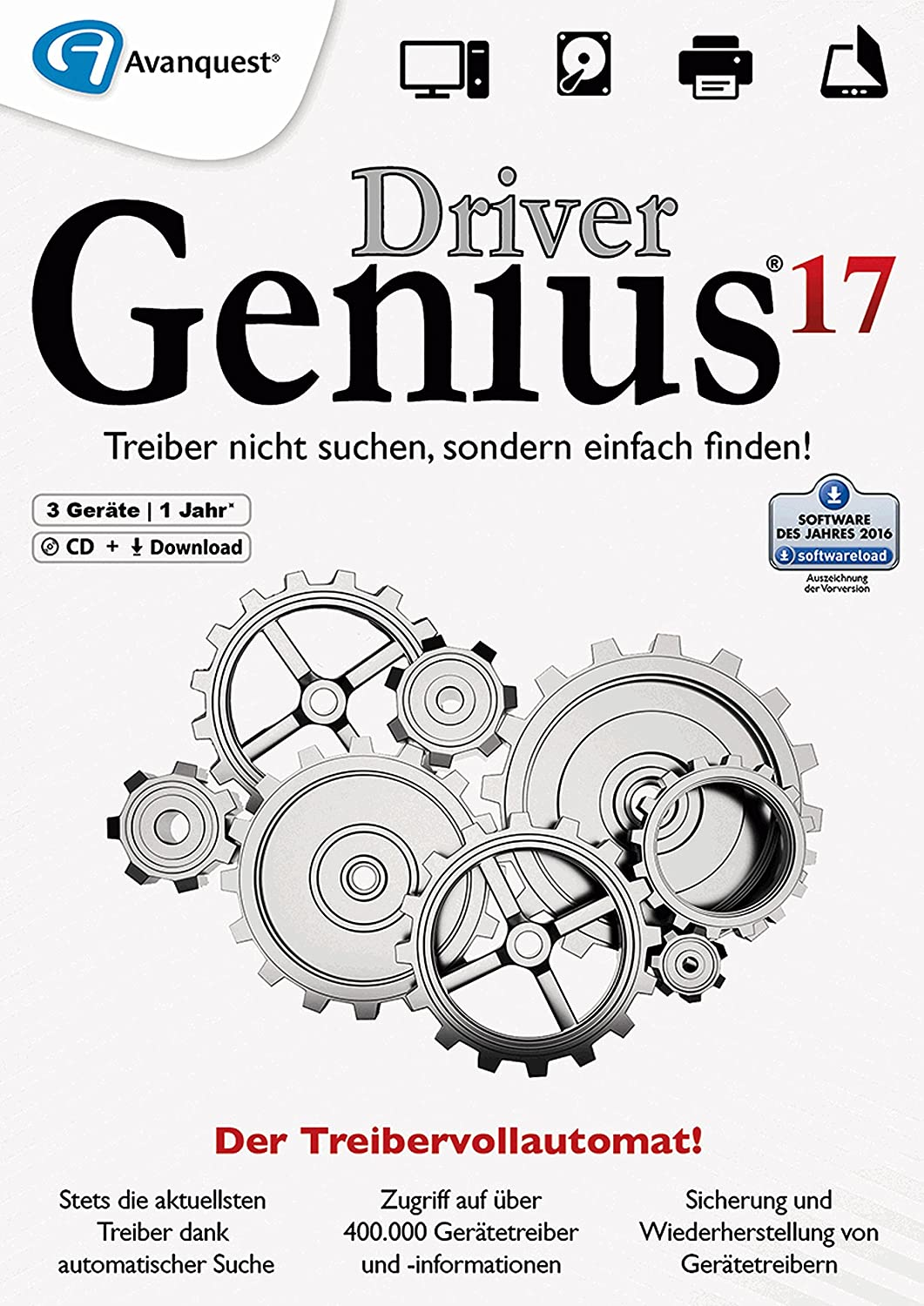 Driver Genius 17 - Keep your drivers up-to-date automatically and keep your PC running like new! Windows 10 8 7 [Download]