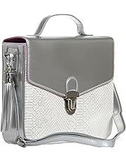 BFB Crossbody iPad Tablet Bag Versatile Sophisticated Shoulder Bag for Work or Play Ideal Travel Bag Handmade Designer Quality That Shows - Silver
