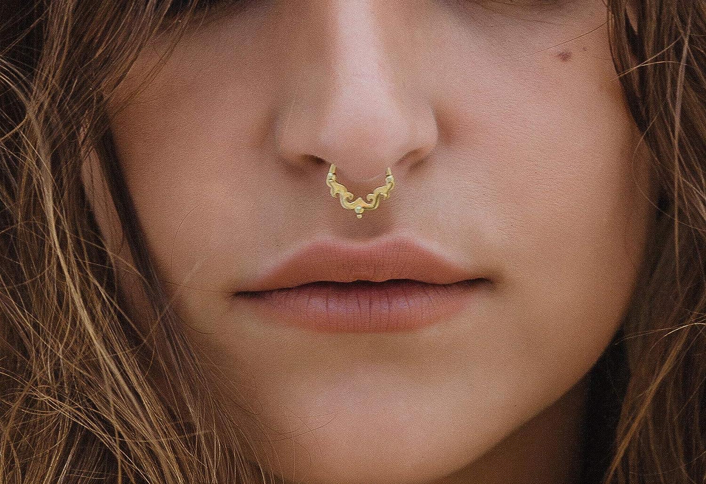 Tragus Cartlige Earring Helix Piercing Helix Indian Septum Ring Silver Septum Ring 18g Septum Ring Tragus Earring Septum Piercing