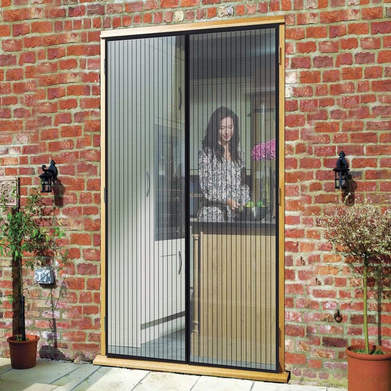 Facile pour Enfants et Animaux Mailles Ultra Fine Automatiquement ferm/é Pliable for Le Salon//Porte Patio Noir MENGH Moustiquaire Porte 85x185cm
