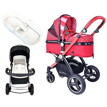 iSafe – Carrito de bebé para sistema 2 in1 – lazo lunares completo con ropa de