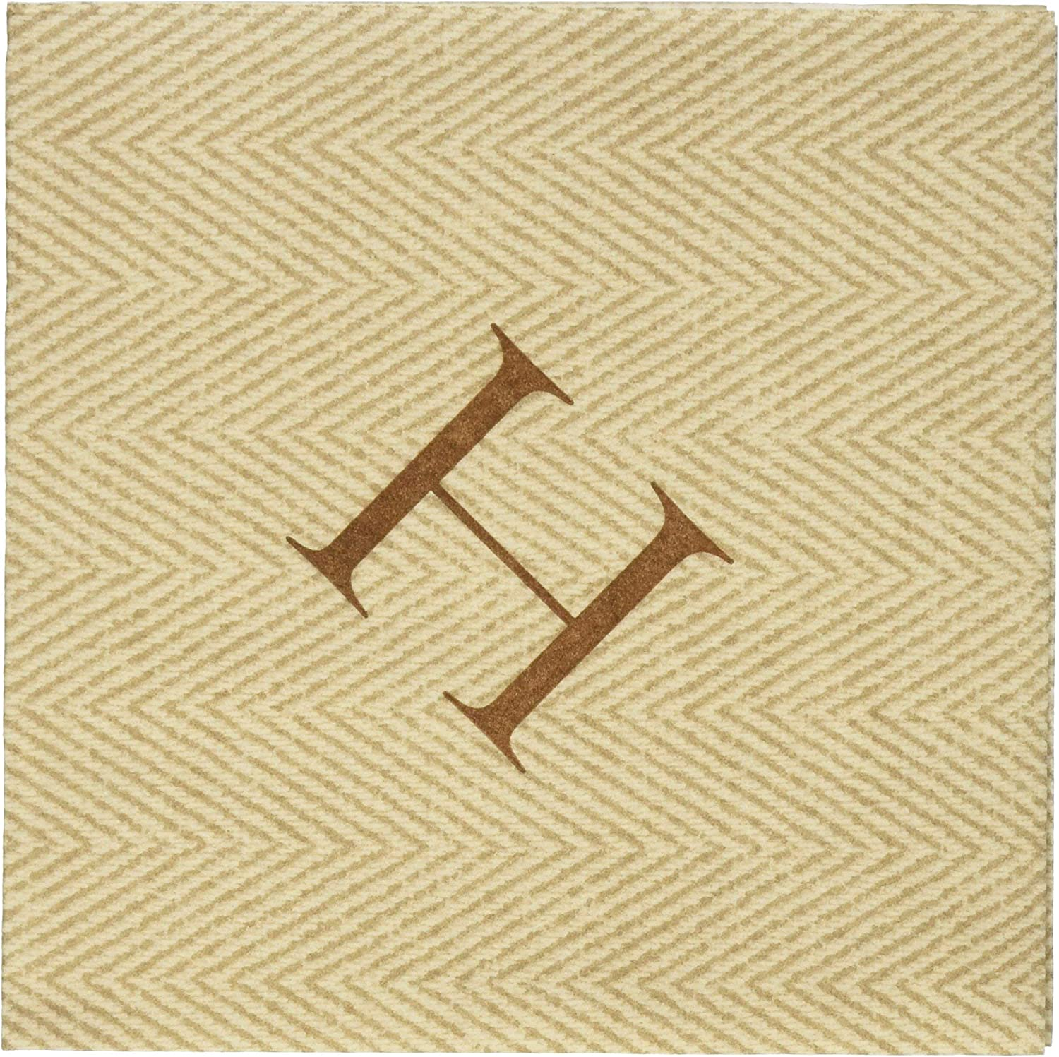 Caspari H Natural Jute Paper Linen Boxed Cocktail Napkins in Letter Pack of 30