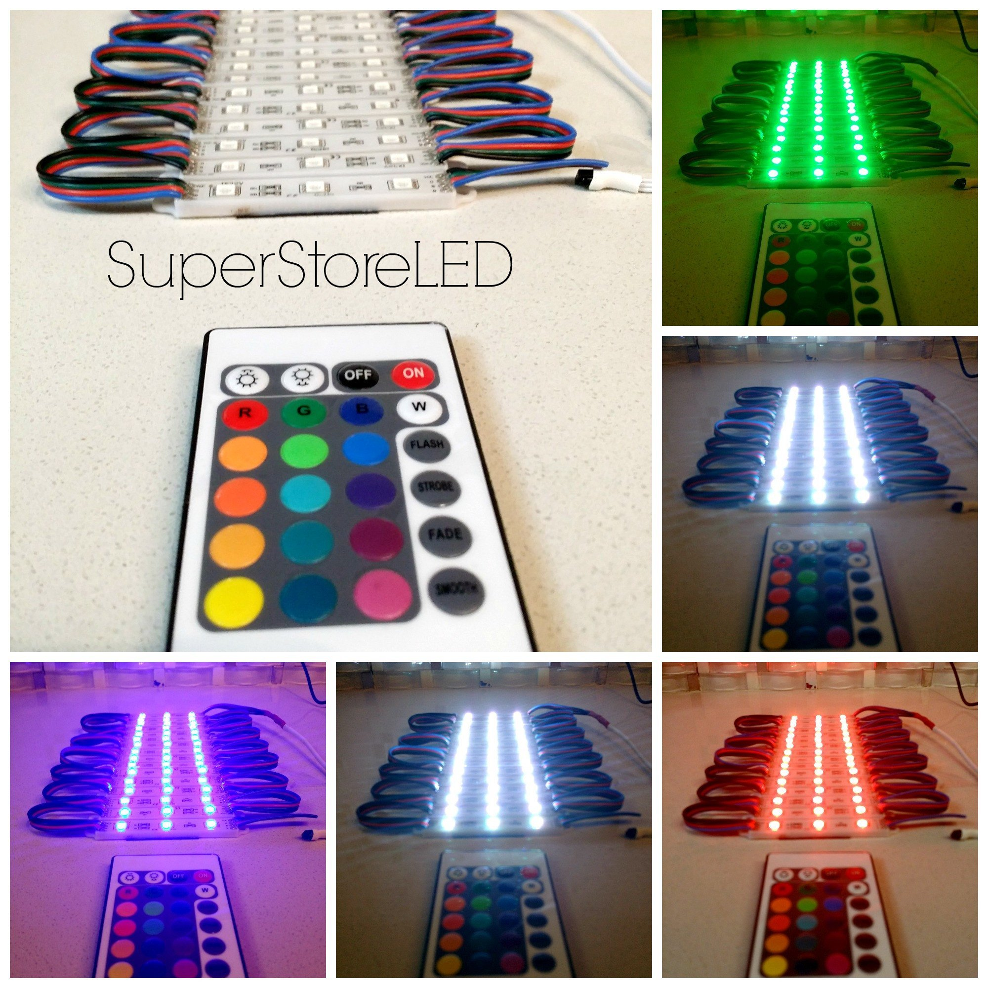SuperStoreLED RGB Store Front LED Window Light Color Change with UL Power Supply