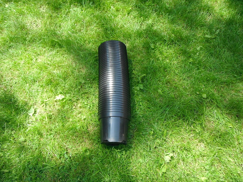 50x 3Liter 3L schwarz rund Polypropylen Kunststoff Garten Pflanztopf–Gute Qualität Töpfe