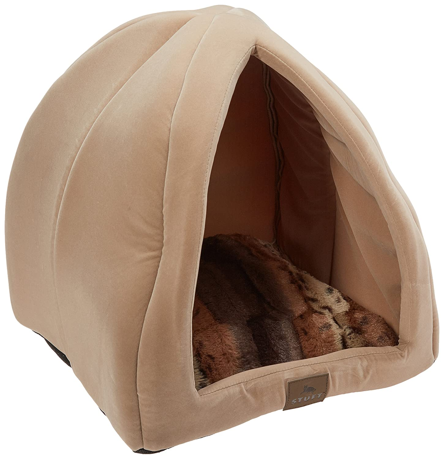 Stuft Purr Tent Moccasin Cat Bed 85%OFF