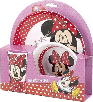 sc 1 st  Amazon UK & Minnie Mouse Melamine 3pc Dinner Set: Amazon.co.uk: Kitchen \u0026 Home