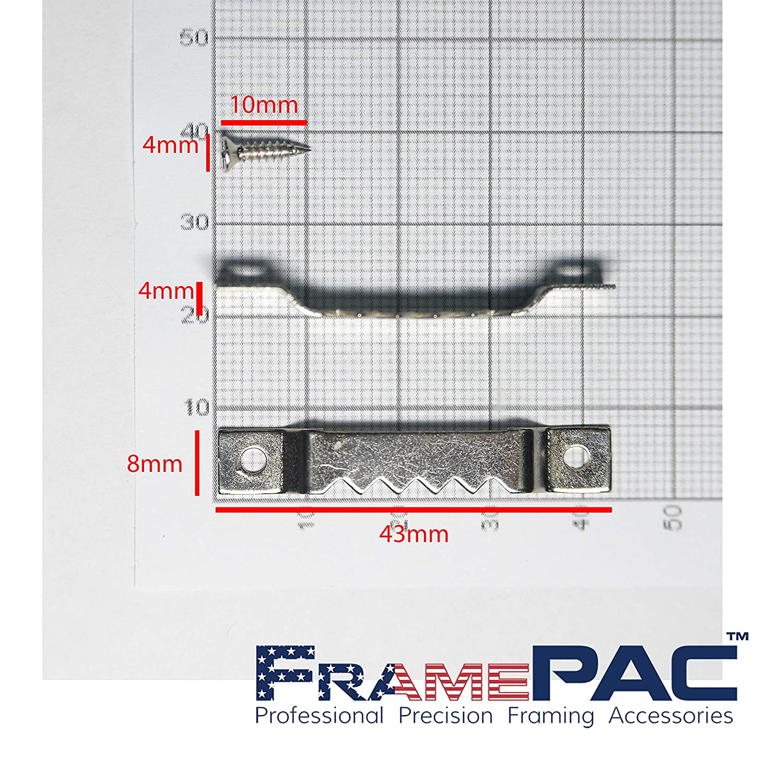500 Pcs Picture Frame Self Fastening Sawtooth Hanger 1
