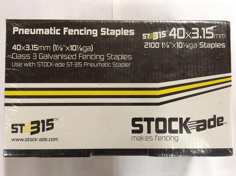 40mm 1 1//2 Fence Staples Stock-Ade ST315 10 1//2 Ga