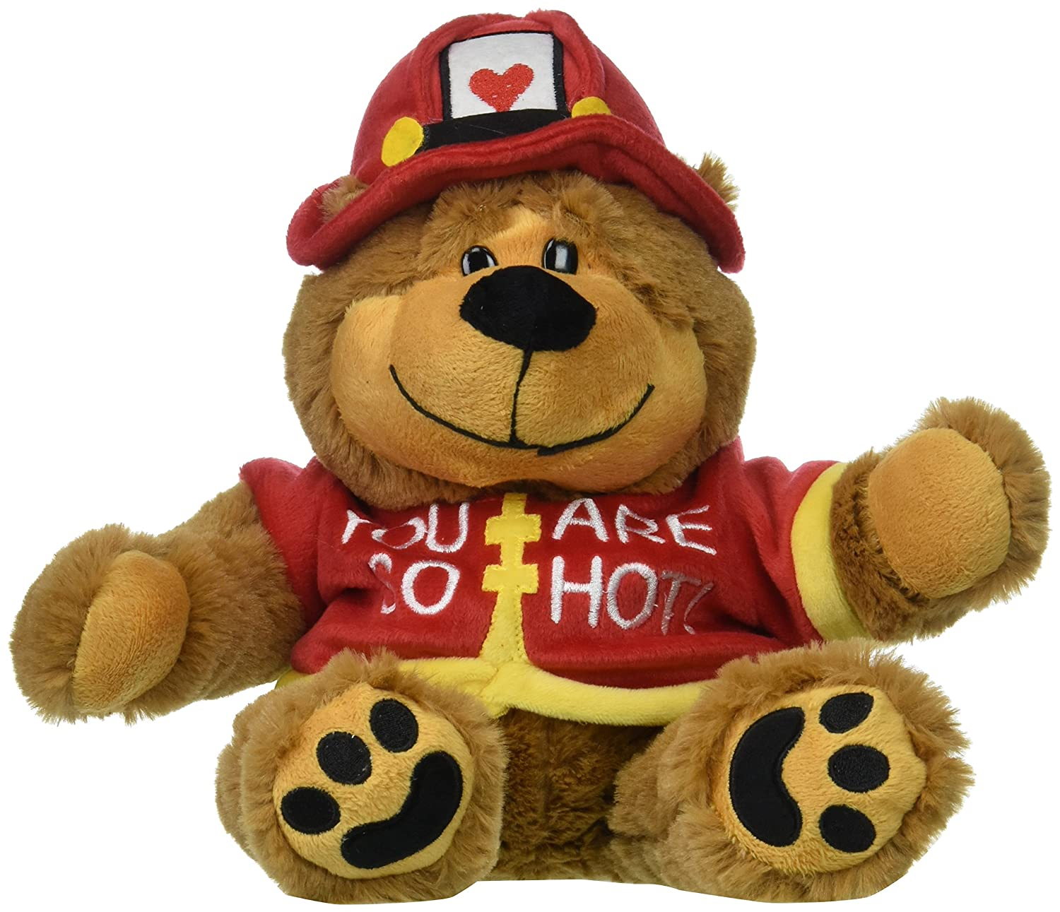 c387bae2dba Amazon.com  Burton and Burton You are So Hot Fireman Bear Plush Toy ...
