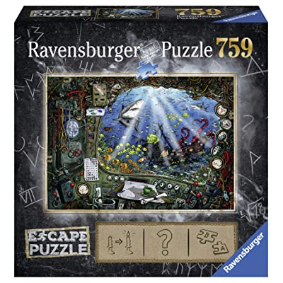 Ravensburger Escape Puzzle Submarine 759 Piece Jigsaw Puzzle for Kids and Adults Ages 12 and Up - an Escape Room Experience in Puzzle Form: Toys & Games