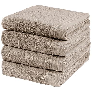 Weidemans Premium 4 Pieces Towel Set Including 4 Exclusive Hand Towels 18  x 30  Color: Sand 100% Cotton  Machine Washable high Absorbency