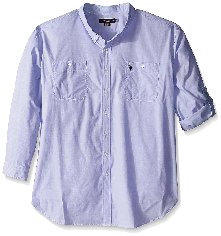 Us Polo Assn Mens Long Sleeve Slim Fit Button Down Sport Shirt