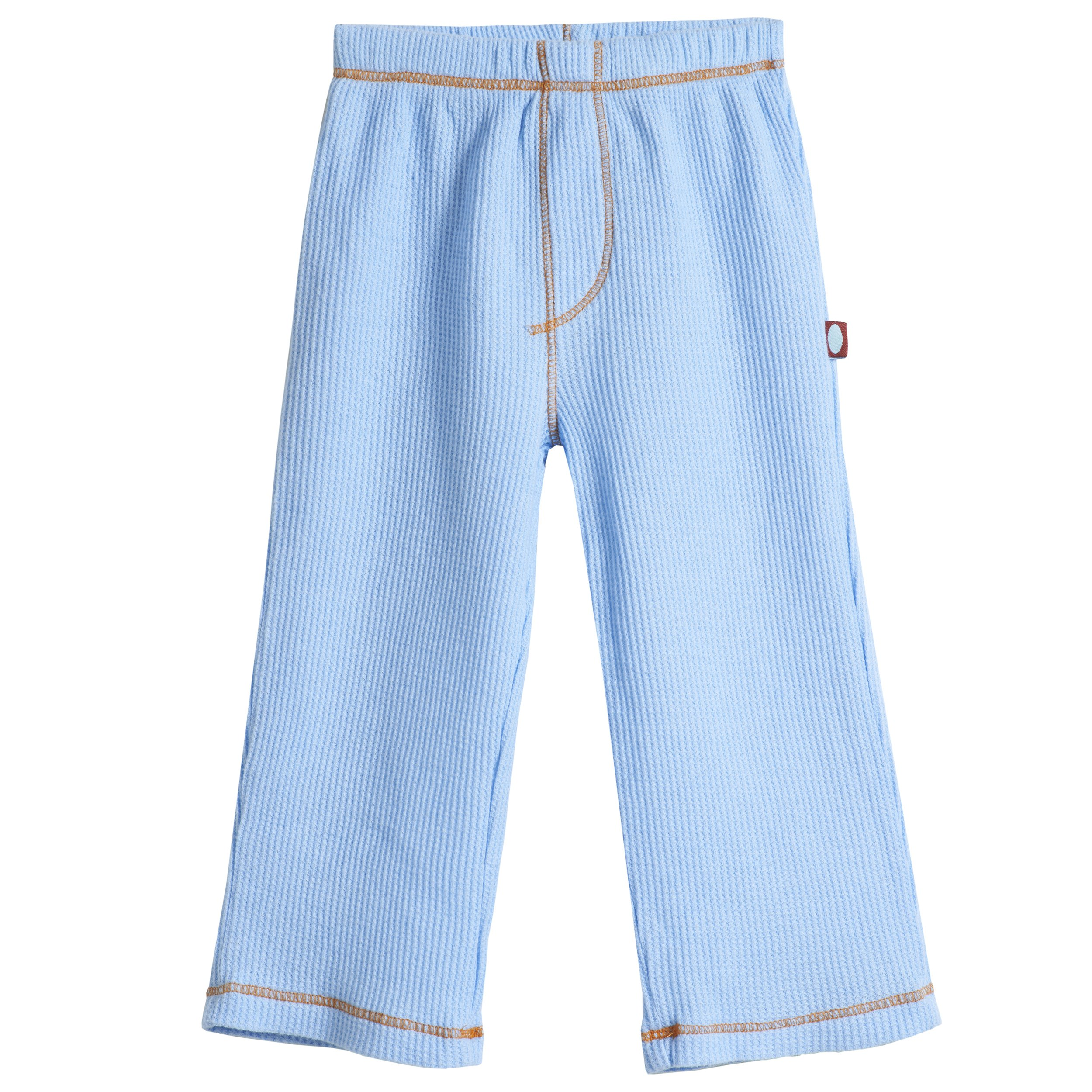 City Threads Little Boy Solid Thermal Pants for Fall and Winter Cozy Warm Super Soft Perfect for Sensory Sensitive Kids and SPD, Bright Light Blue, 6