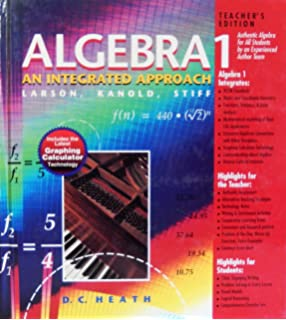 Heath algebra 1 an integrated approach larson kanold stiff algebra 1 an integrated approach teachers edition fandeluxe Images