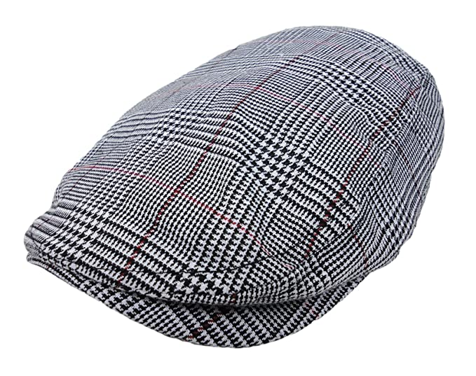 Plaid Pattern Ivy Driver Hunting Flat Newsboy Hat Gray at Amazon ... 81844b1957e