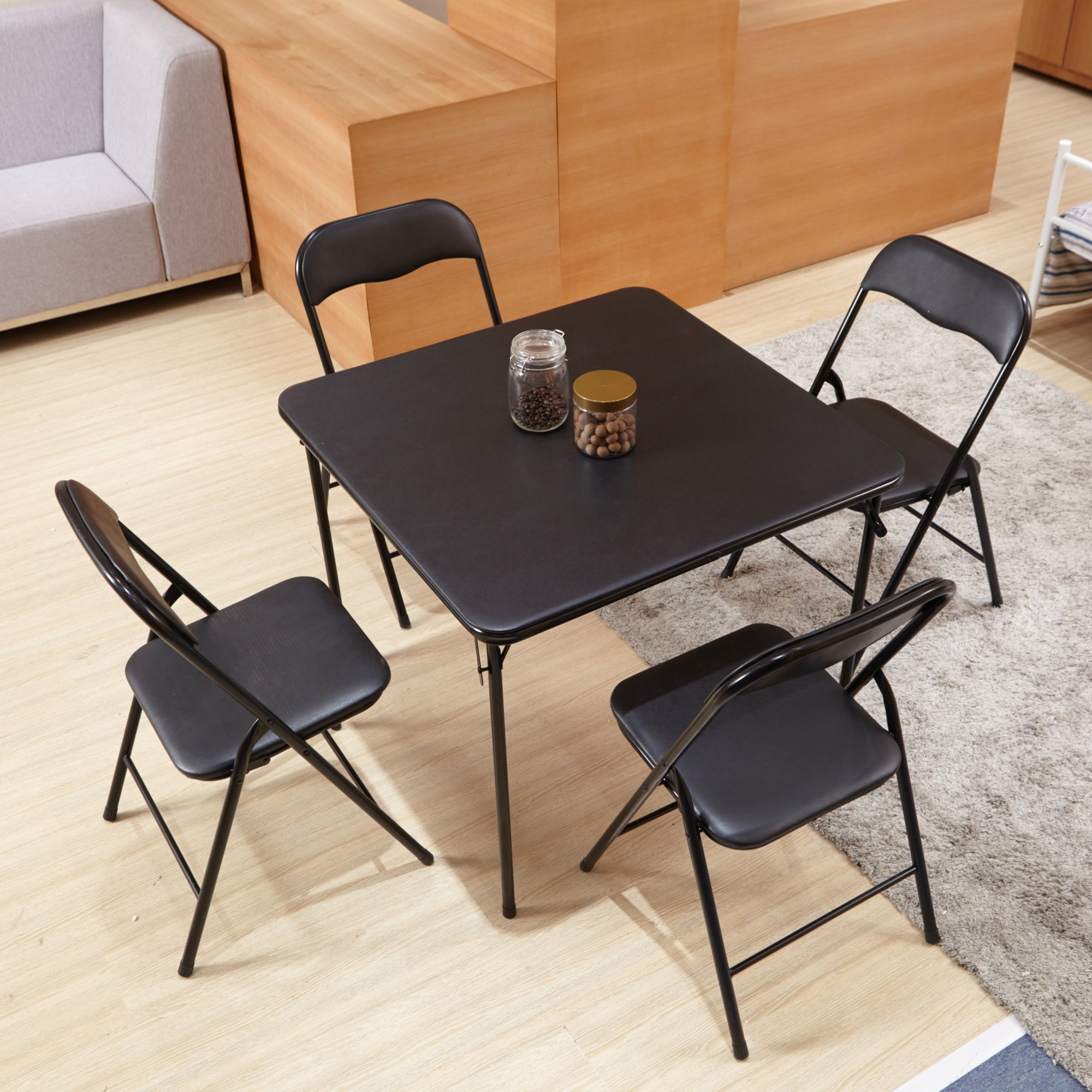 HOMY CASA Homycasa Folding Square Set of 4 Dining Table ...