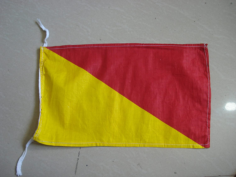 "Nautical // Boat 8/"" X 13/"" 100/% Cotton – Marine Code Naval Signal Flag 2"