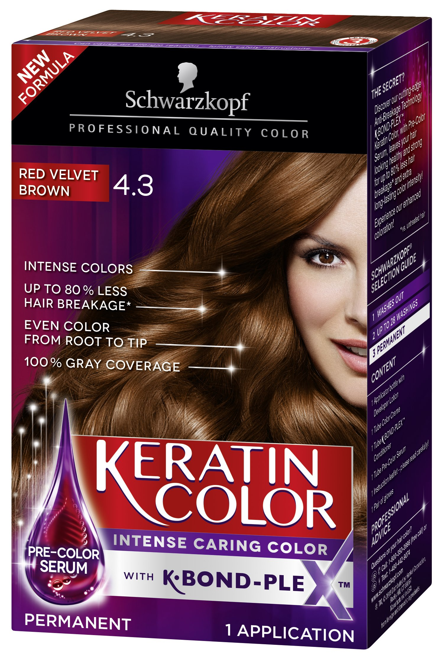 Amazon Schwarzkopf Keratin Color Anti Age Hair Color Cream 56