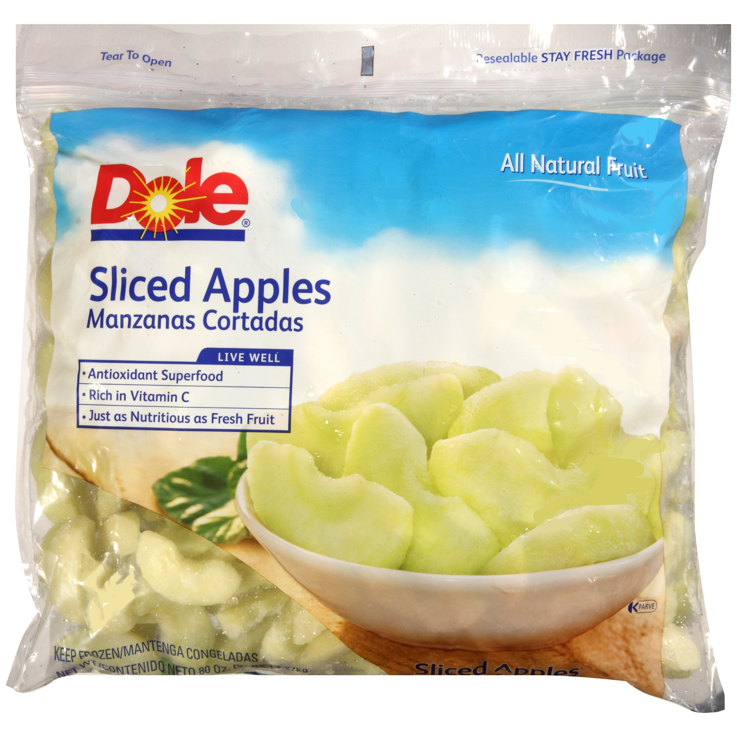 Dole Sliced Apples, 5 lb, (2 count)