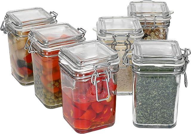 Fido Set di barattoli in Vetro con Chiusura a Leva Accessorio da Cucina I Hobby MamboCat 3-TLG 0,75 l 1,0 l 1,5 l