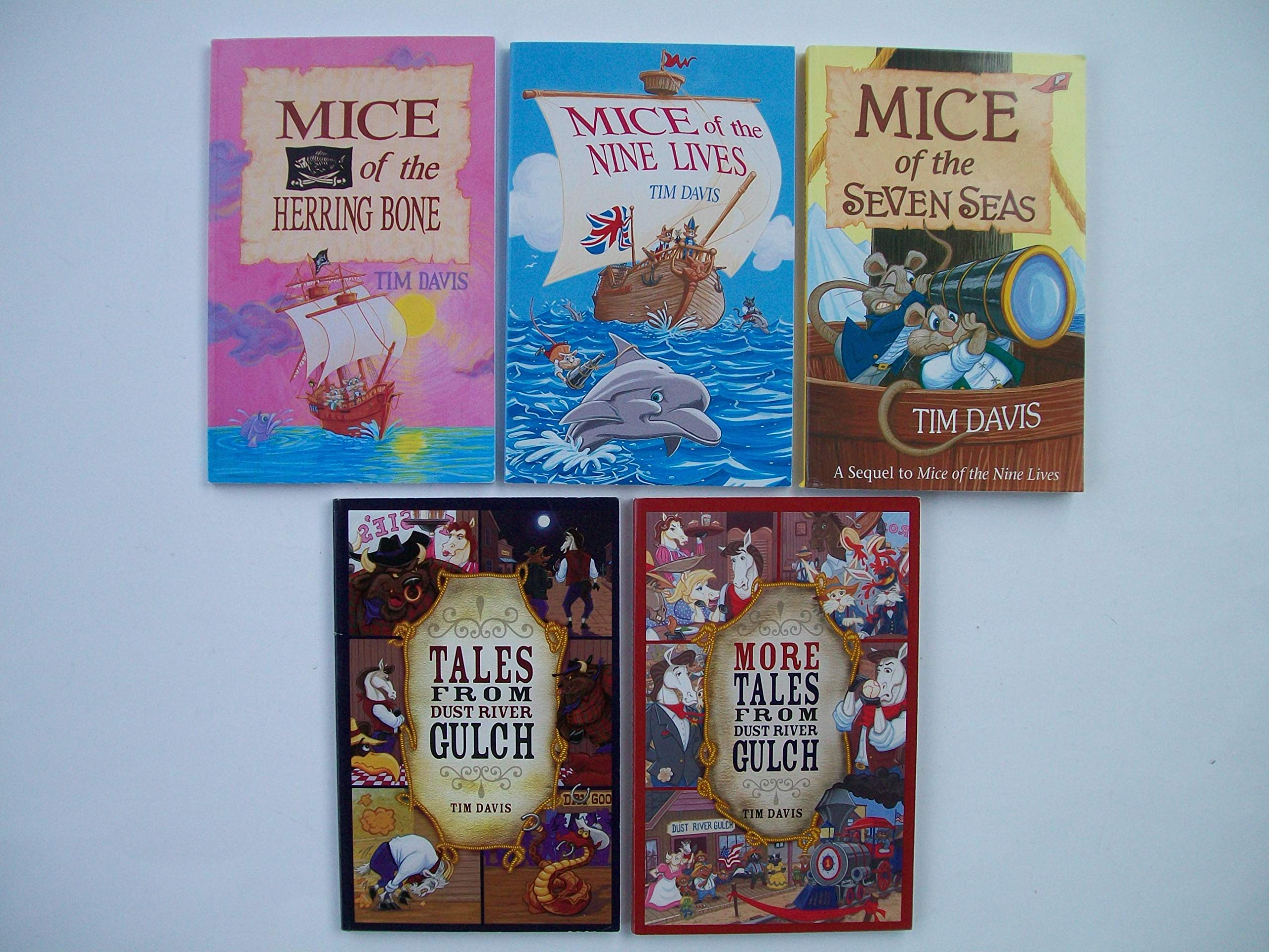 Mice and Tales (Set of 5 Books) Mice of the Herring Bone; Mice of the Nine  Lives; Mice of the Seven Seas; Tales from Dust River Gulch; More Tales from  Dust ...