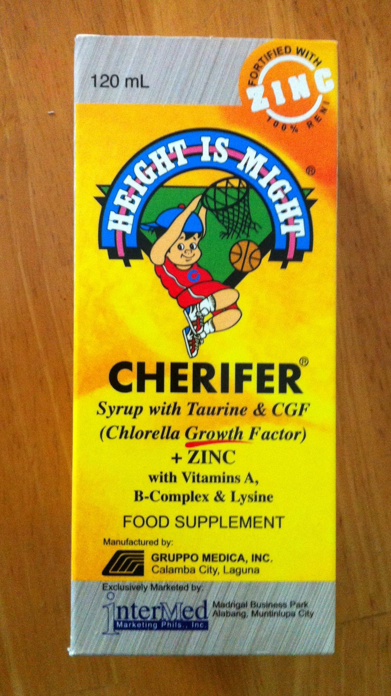 2 Cherifer Syrup w/Taurine, CGF (Chlorella Growth Factor) and Zinc (2 x 120ml)