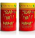 Slap Ya Mama Louisiana Style Cajun Seasoning, Hot Blend, MSG Free and Kosher, Pack of 2