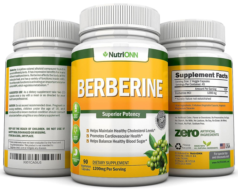 Amazon.com: Berberine – 1200 mg por Servir – 90 Cápsulas ...