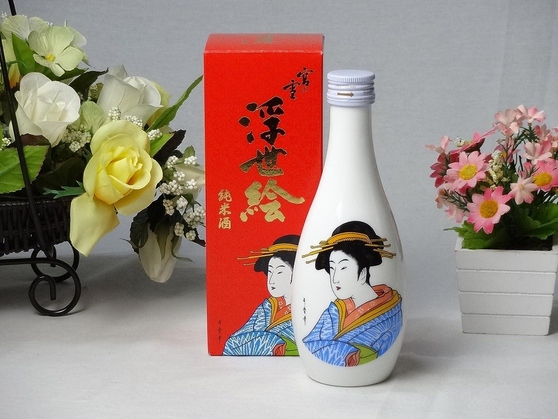 海外のお友達には日本酒12本セット 宮の雪 純米酒 浮世絵 (宮崎本店) 300ml×12本  B014NTAKPS