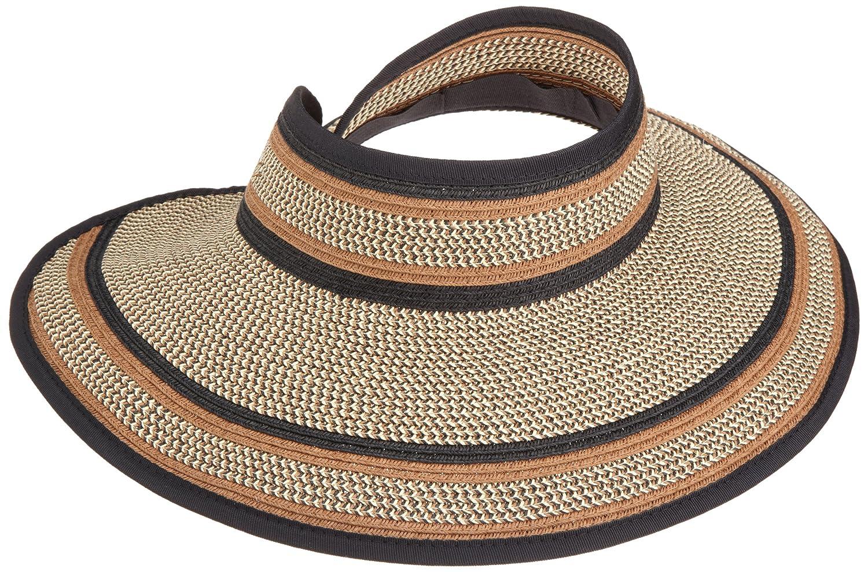 San Diego Hat Company Women's Ultrabraid Visor Hat Mixed Brown One Size ubv2004-Mixed Brown-One Size