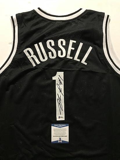 cbf5729d8 Autographed Signed D Angelo Russell Brooklyn Black Basketball Jersey  Beckett BAS COA