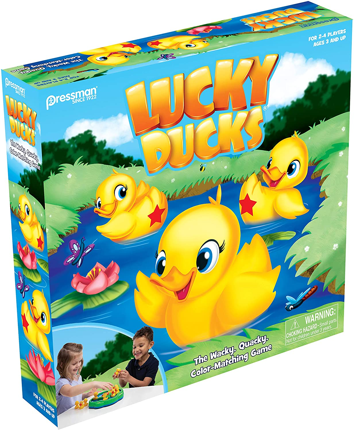 Pressman Toy Lucky Ducks The Memory and Matching Game that Moves