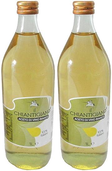 """Il Chiantigiano: """"Aceto di Vino Bianco"""" White Wine Vinegar, Glass Bottle"""