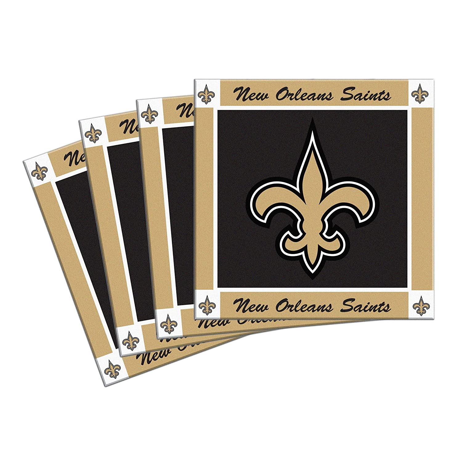 Boelter Brands NFL Mens 4-Pack Ceramic Coasters
