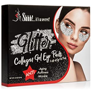 Collagen Under Eye Mask | Gel Eye Pads Collagen Patches for Puffy Eyes, Dark Circles, Wrinkles, Anti-Aging | Natural Forehead Treatment Mask Moisturizer (5 Pairs)