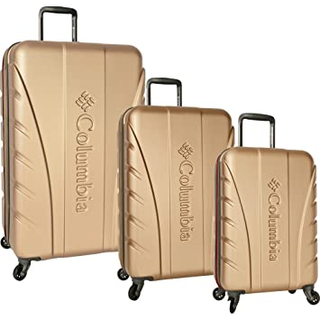 Amazon.com | Columbia Cascade Range 3 Piece Hardside Suitcase Set (28