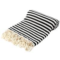 Striped Turkish Peshtemal Towel - Striped Beach Towel 39x71 inches - Hammam Towel - Turkish Towel - 100% Turkish Cotton