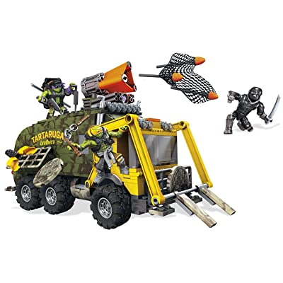 Mega Bloks Teenage Mutant Ninja Turtles: Out of the Shadows Battle Truck Construction Set-413 Pieces: Toys & Games