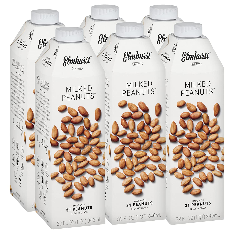 d836722426b3 Elmhurst Milked - Peanut Milk - 32 Fluid Ounces (Pack of 6). Only 5 ...