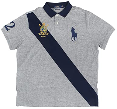 f11cb34d7 Image Unavailable. Image not available for. Color  Polo Ralph Lauren Men s  Big Pony Crest Custom Slim Fit ...