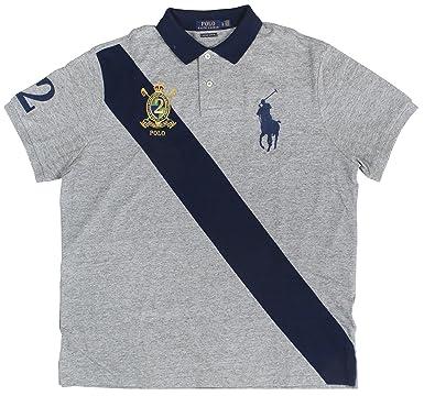 Slim Graynewp Ralph LargeCol Men's Polo Sash Navy Big Hthr Crest Fit Lauren Shirtx Custom Pony Mesh 1cTFulJ5K3