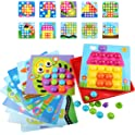 Amosting Color Matching Mosaic Pegboard Educational Toys