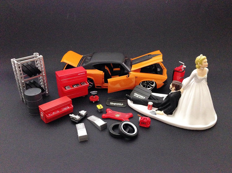 auto mechanic and groom wedding cake